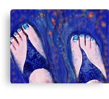 Sandals and Tiny Fish Canvas Print