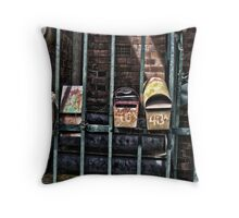 Old Mail boxs Throw Pillow
