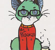 Blogger cat  by gaelvein