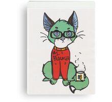Blogger cat  Canvas Print