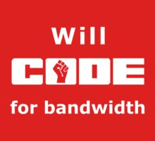 Will CODE for bandwidth Black T-Shirt for Coders Kids Clothes
