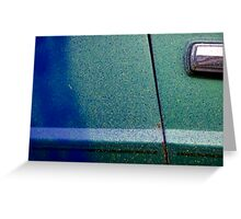Car Door. Paint Re Spray Greeting Card