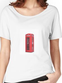 Red Telephone Box Women's Relaxed Fit T-Shirt