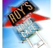 roy's, route 66, california Photographic Print