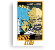 White Club (Breaking Bad + Fight Club mashup) Metal Print