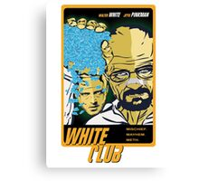 White Club (Breaking Bad + Fight Club mashup) Canvas Print