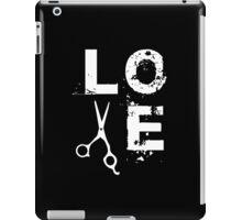 Cool Scissor Love Shears Hair Stylist T-Shirt iPad Case/Skin