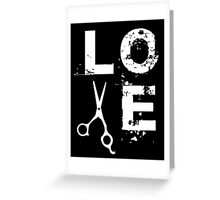 Cool Scissor Love Shears Hair Stylist T-Shirt Greeting Card