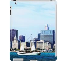 Schooner Against Chicago Skyline iPad Case/Skin