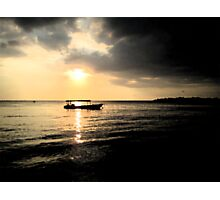 Sunset at Negril Bay Jamaica Photographic Print