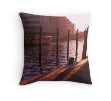 Typical Grande Canale Scene, Venezia Throw Pillow