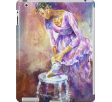 Ballerina Tying The Ribbons - Dance Art Gallery 1 iPad Case/Skin