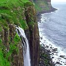 Waterfall at Kilt Rock by Tom Gomez