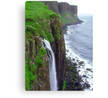 Waterfall at Kilt Rock Canvas Print