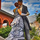 Key West Ballroom Dancers by Chris Thaxter