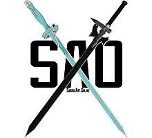 SAO - Crossing Blades Photographic Print
