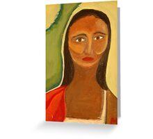 Red Shawl Greeting Card