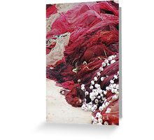 Red net Greeting Card