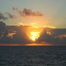 Sunset over Atlantic Ocean near Bermuda  by Vitaliy Gonikman