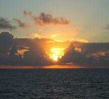 Sunset over Atlantic Ocean near Bermuda  by Vitaliy Gonikman