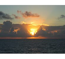 Sunset over Atlantic Ocean near Bermuda  Photographic Print