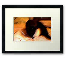 Dimensional Cat Framed Print