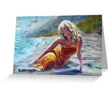 Beach Girl Greeting Card