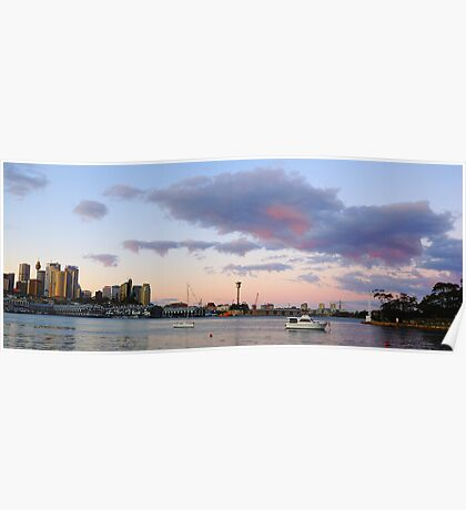 Awaiting The Dawn - Sydney Harbour, Sydney Australia Poster