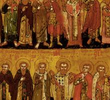 Russian icon: Saints Sticker