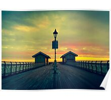 Penarth Pier - A touch of colour Poster