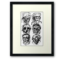 monster mashup Framed Print