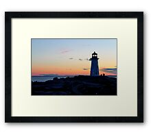 Peggy's Lighthouse Framed Print