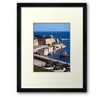 Malta, Grand Harbour View 1 Framed Print