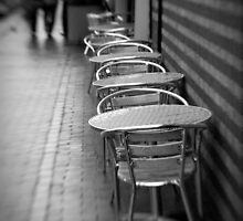 Empty Chairs at Empty Tables, Canal-side Dining in Birmingham by Matthew Walters