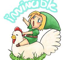 The Power of the Chicken - LoZ Fanart by wyrielle
