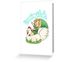 The Power of the Chicken - LoZ Fanart Greeting Card