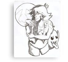 Punk Rock Princess Peach Canvas Print