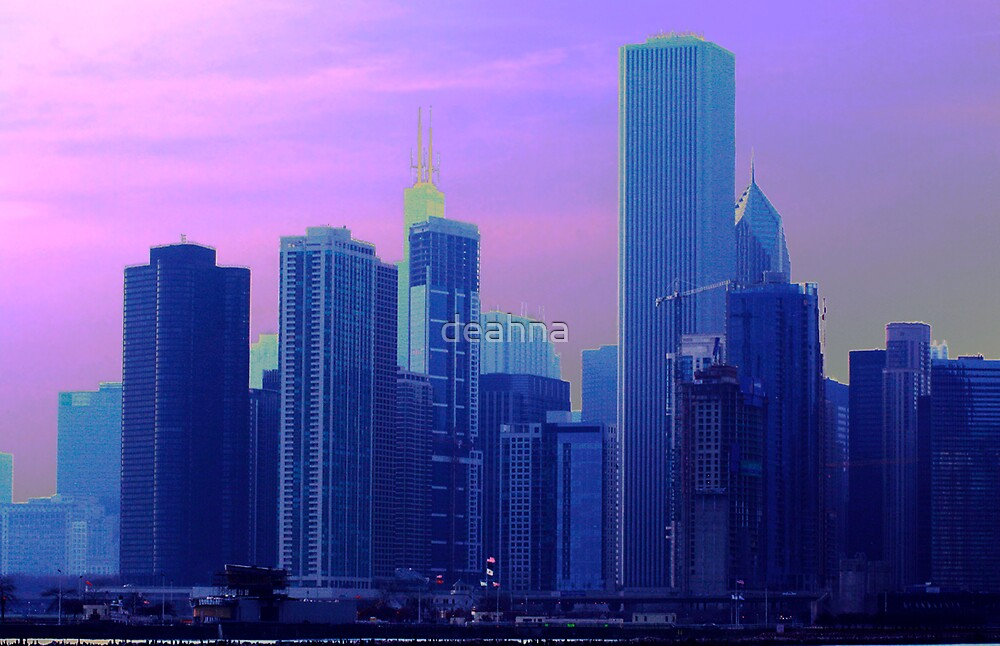 Chicago in Purple Haze by deahna
