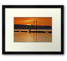 crab hunt Framed Print