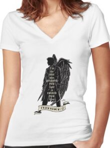 Perdition Women's Fitted V-Neck T-Shirt