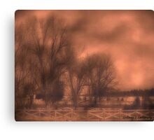 Foggy morning..... Canvas Print