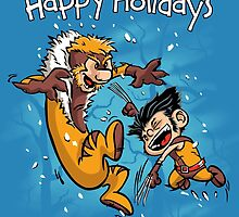 Logan and Victor - Happy Holidays card by DJKopet