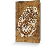Steampunk Gecko Lizard Vintage Style Greeting Card