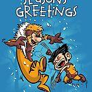 Logan and Victor - Seasons Greetings card by DJKopet