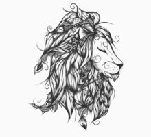 Poetic Lion B&W  One Piece - Long Sleeve