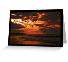 Borth Beach - just after the storm Greeting Card
