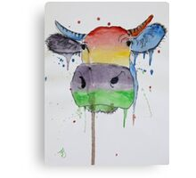 'Coloured Cow' Canvas Print