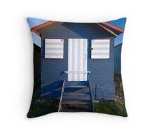 Beach Hut - Whitstable Throw Pillow