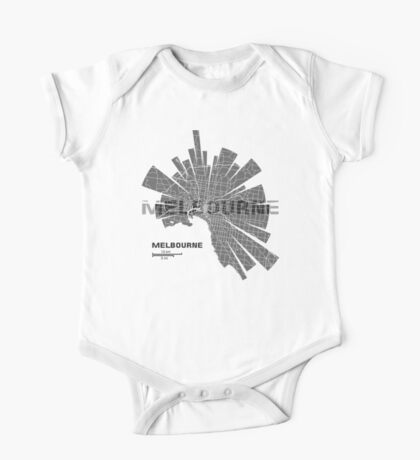 Melbourne Map One Piece - Short Sleeve