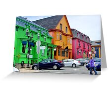 The Colourful Side of Lunenburg Greeting Card